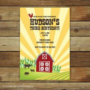 Down on the Farm: Barnyard birthday party ideas