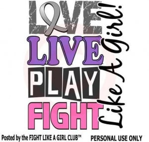 Love #Live #Play #Fight Like a Girl!
