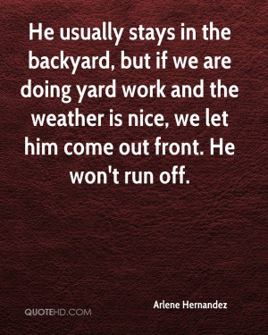 Yard Work Quotes