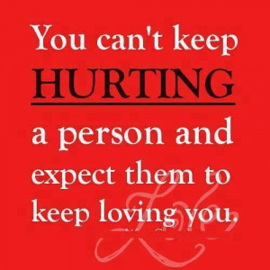 Stop hurting me...