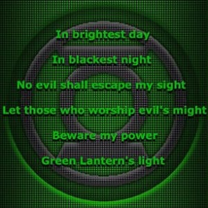 quotes Day 1 Green Lantern Oath Will Power quote quotes