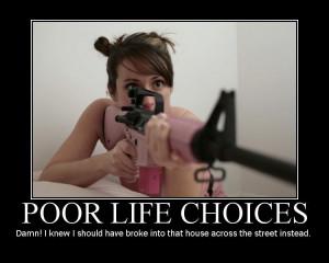 Motivational gun posters.
