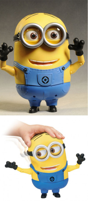 minion dave talking action figure comes to life with 55 minion sayings ...