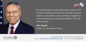 Famous Quotes About Israel : Colin Powell : Mike Evans : Jerusalem ...