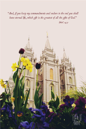 Fab N Free - Free Printable LDS Temple Quote