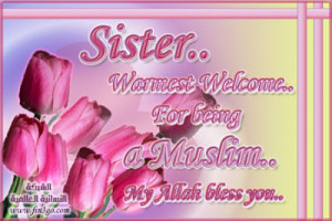 sister sisters tulipe warm warmest welcome muslim