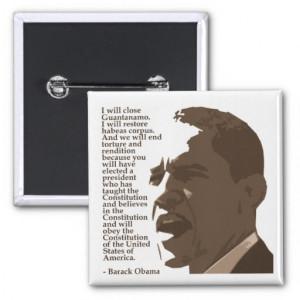 Barack Obama Constitution Quote Square Button