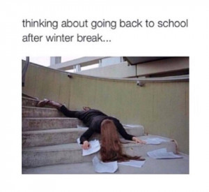going back to school after winter break the teacher edition