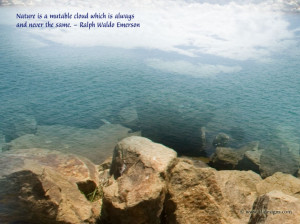... With Quotes: Nature Picture Of Many Rocks With Quote In The Sky