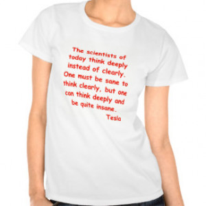 nikola tesla quote tee shirt
