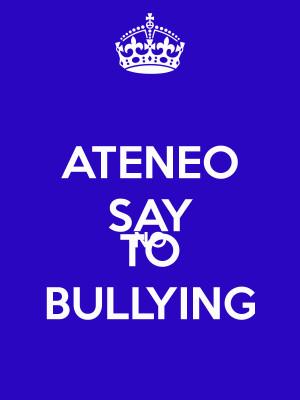 Keep Calm and Say No to Bullying