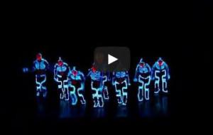 Amazing TRON dance. OMG... sooo cool!