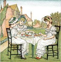Kate Greenaway Tea Time