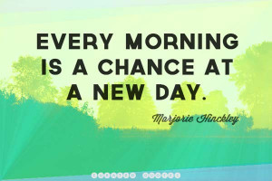 Every morning I wake up saying, I'm still alive; a miracle. And so I ...