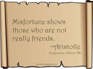 Aristotle Quote on True Friends