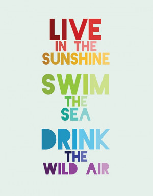 ... in the sunshine swim in the sea drink the wild air # quote # summer