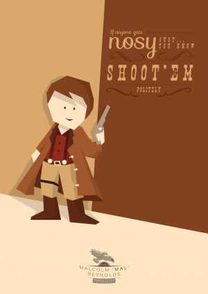 Firefly Minimalist Poster Set: Mal And The Gang Get Cute For Their ...