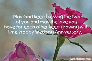 ... have for each other keep growing with time. Happy Wedding Anniversary
