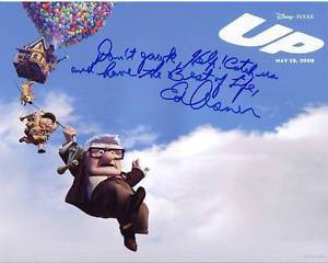ED-ASNER-Signed-DISNEY-PIXAR-UP-Photo-w-Hologram-COA-w-GREAT-QUOTE