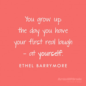 ... real laugh at yourself ethel barrymore # funny # quote # aprilfoolsday