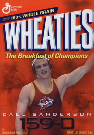 Cael Sanderson, gold medalist and proud Cyclone. We named our youngest ...