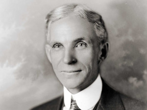 Henry Ford, founder/CEO of Ford Motor Company