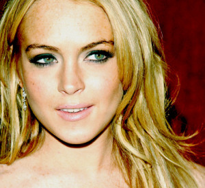 blonde, fashion, girl, green eyed, green eyes, lilo, lindsay lohan ...