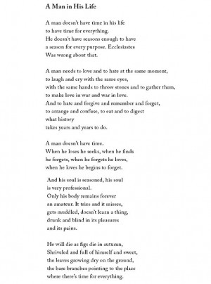 "Yehuda Amichai, ""A Man in His Life"""