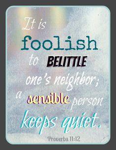Help me, Lord. Keep slander, gossip, backbiting, harsh joking ...