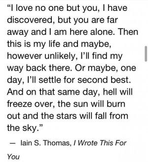 ... This For You by Iain ThomasThomas Writers Poets, Iain Thomas, Truths