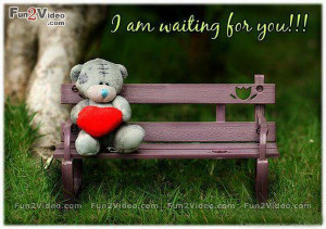 am waiting for you is a cute love picture which is very sweet and ...