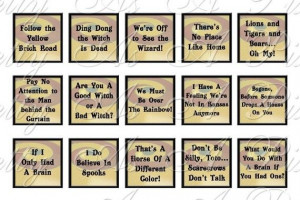 Wizard of Oz Quotes Sampler Size Inchies 78 by PrettyAsAPixel, $2.50
