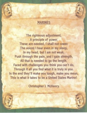 marine poem by Chris