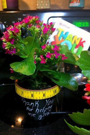 Teacher Appreciation Gift – chalkboard spray-painted clay pots with ...