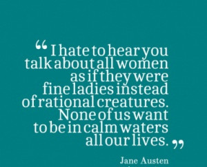 Jane Austen Quote On Women