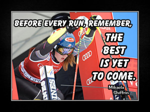 Skiing Poster Mikaela Shiffrin Photo Quote Wall Art Print 5x7