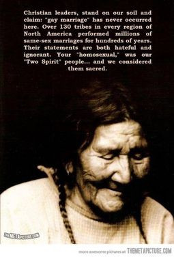 What Native Americans think about gaymarriage…
