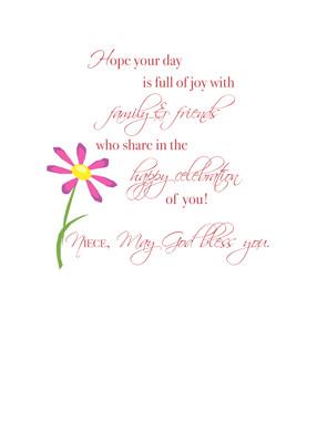 3414 Niece Birthday Flowers Religious