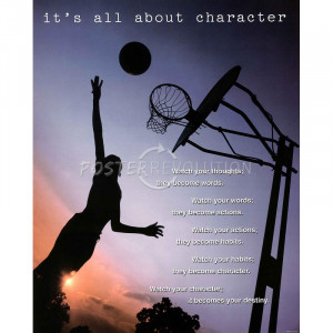 All About Character Motivational Art Poster Print - 16x20