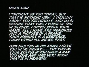 ... dad | 15/2012 4:35:01 PM Mssgs For Dad's That Are In Heaven