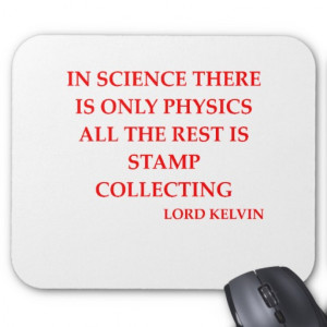 lord kelvin quote mouse mats