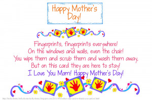 Fingerprint Mother's Day Card (and Poem) or Thank You Card, or Get ...