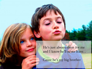 Happy Birthday To My Big Brother Quotes Cause he's my big brother.