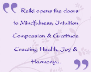 ... Reiki healing treatments, Reiki Training and Reflexology. I hope you