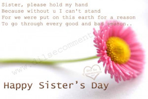 sister s day quote happy sister s day happy hug day sweet sister ...