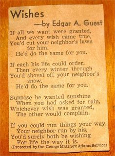 wishes by edgar a guest more edgar a guest volume quotes favorite ...