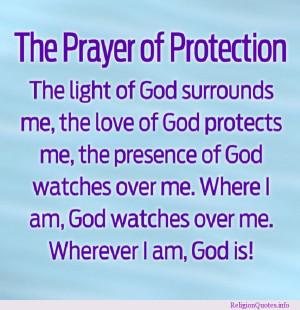 Religious prayer for protection.