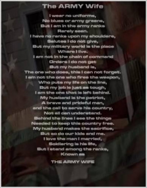 Love quotes about army wives