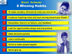 Great Achiever: 8 Winning Habits. How To Achieve Great Success ...