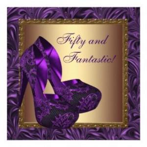 topics related to purple 50th birthday invitations 50th birthday ...
